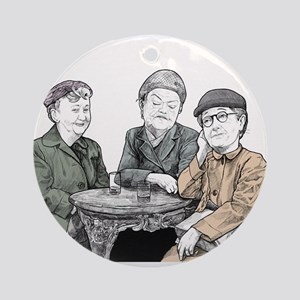 Minnie Martha and Ena Sharples from Round Ornament