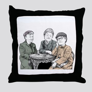Minnie Martha and Ena Sharples from C Throw Pillow