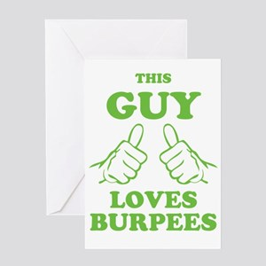 This Guy Loves Burpees Greeting Card