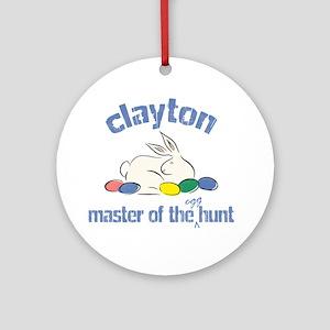 Easter Egg Hunt - Clayton Ornament (Round)