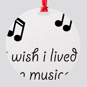 Live In Musical Round Ornament
