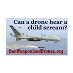 Ban Weaponized Drones 1 Wall Decal