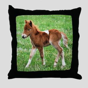 Alert in the Field Throw Pillow