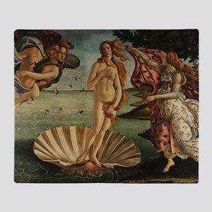 Botticelli Birth Of Venus Throw Blanket