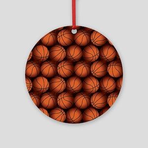 Basketball Balls Round Ornament