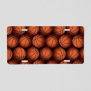 Basketball Balls Aluminum License Plate