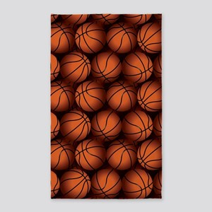 Basketball Balls Area Rug
