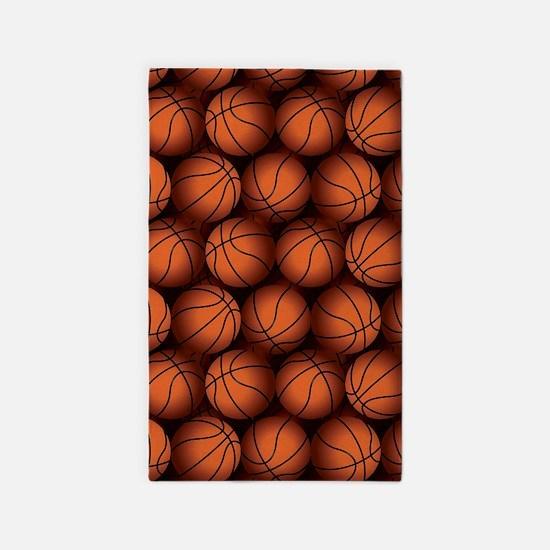 Basketball Balls Area Rug