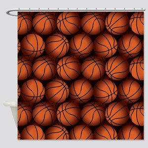 Basketball Balls Shower Curtain