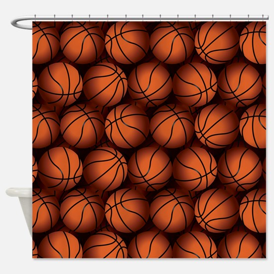 Basketball Balls Shower Curtain