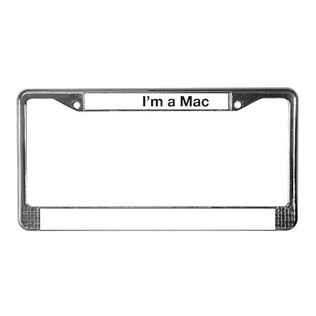 I'm a Mac License Plate Frame