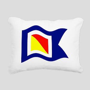 POYC Burgee Wave Wht Bor Rectangular Canvas Pillow
