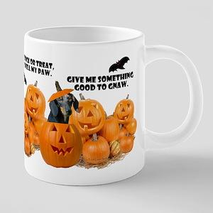 Dachshund Halloween (Black & Tan) Mugs