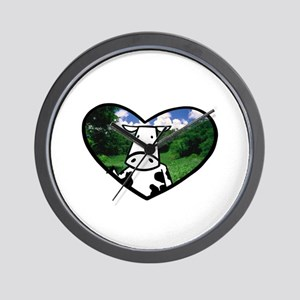 Cow in Paradise Wall Clock