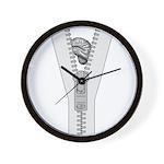 Zipper Brain Wall Clock