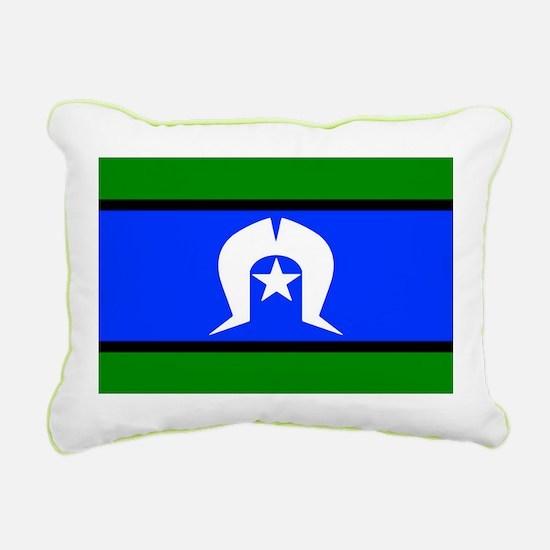 Torres Strait Islander Flag Rectangular Canvas Pil