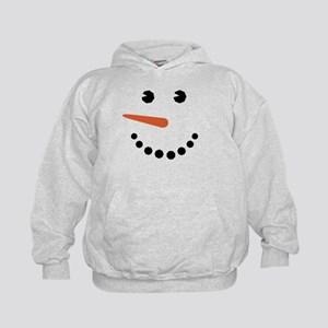 Snowman Face Funny Hoodie