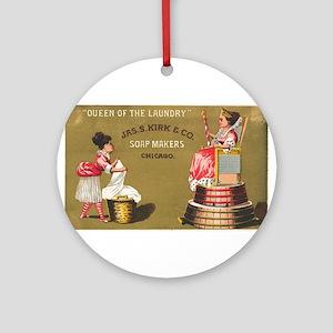 Jas S Kirk Soap Makers ad Circa 1880 Round Ornamen