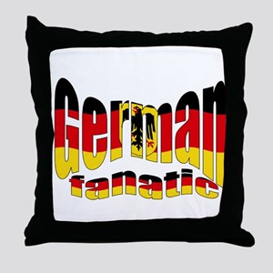 German flag fanatic Throw Pillow