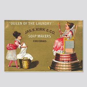 Jas S Kirk Soap Makers ad Circa 1880 Postcards (Pa