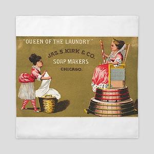 Jas S Kirk Soap Makers ad Circa 1880 Queen Duvet