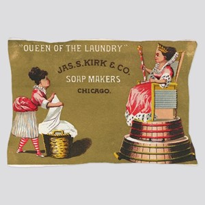Jas S Kirk Soap Makers ad Circa 1880 Pillow Case