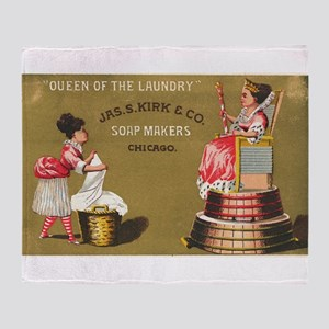 Jas S Kirk Soap Makers ad Circa 1880 Throw Blanket