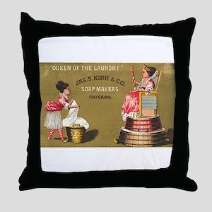 Jas S Kirk Soap Makers ad Circa 1880 Throw Pillow