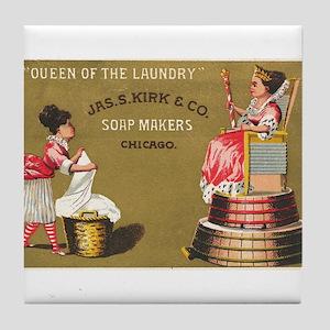 Jas S Kirk Soap Makers ad Circa 1880 Tile Coaster