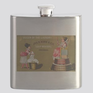 Jas S Kirk Soap Makers ad Circa 1880 Flask