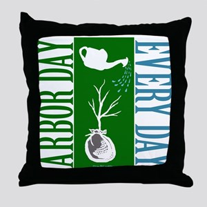 ARBOR DAY Throw Pillow