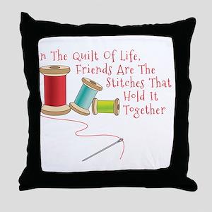 Quilt of Life Throw Pillow