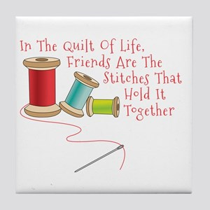 Quilt of Life Tile Coaster