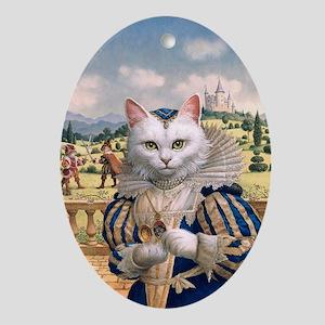 FP316_Cat Princess Oval Ornament
