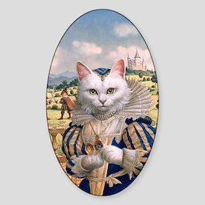 FP316_Cat Princess Sticker (Oval)