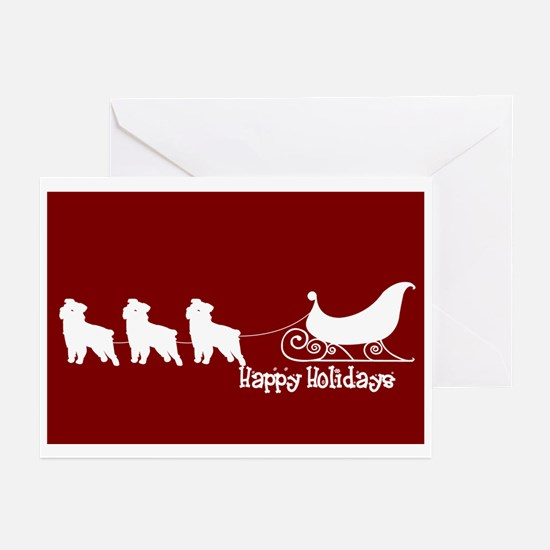 "Griffon ""Sleigh"" Greeting Cards (Pk of 10)"