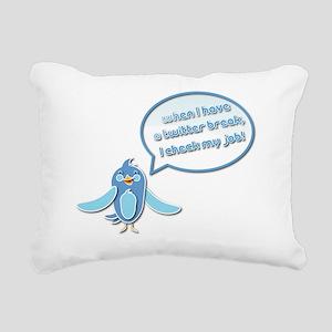Twitter Rectangular Canvas Pillow