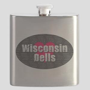 Wisconsin Dells w Heart Flask