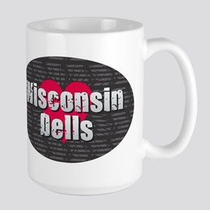 Wisconsin Dells w Heart Mugs