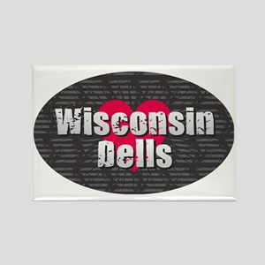 Wisconsin Dells w Heart Magnets