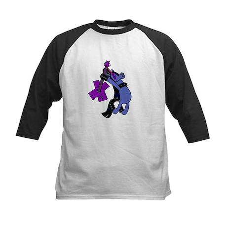 Rock Star Purple Unicorn Baseball Jersey