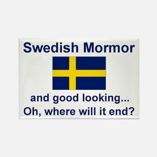 Good Lkg Swedish Mormor Rectangle Magnet