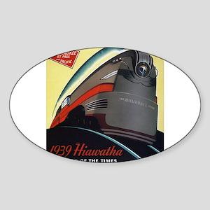 Hiawatha_Milwaukee_Road_Advertisement_1939 Sticker