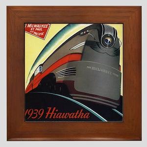Hiawatha_Milwaukee_Road_Advertisement_1939 Framed