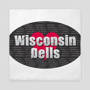 Wisconsin Dells w Heart Queen Duvet