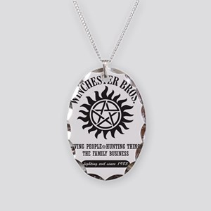 Winchester Bros. 9 Necklace Oval Charm