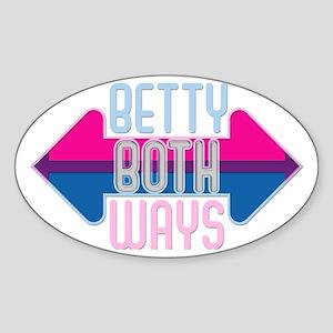 Betty Both Ways Oval Sticker