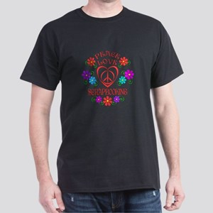 Peace Love Sewing Dark T-Shirt