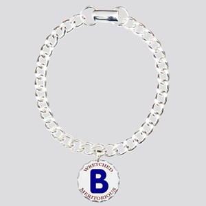 Wretched, Meritorious B Charm Bracelet, One Charm