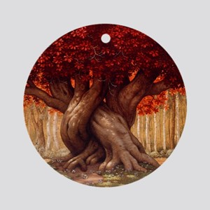 Enchanted Tree Round Ornament